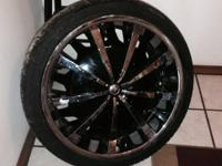 "I have these's  22""rims and tires like new only have"