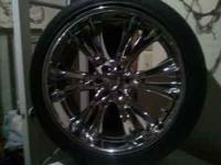 Great 22 rims no curb damage they look nice. 6 lug came
