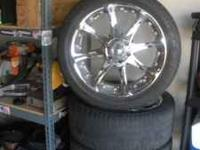 "22"" rims & tires from 2006 Chevy Avalance. The tires"