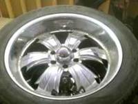 4 rims w tirea 2 of the tires are no good so the price
