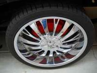 "22"" FOUR SETS OF 22"" TYFUN CHROME WHEELS AND"