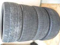 "22"" SETS OF FOUR USED TIRES 265-35-22 PRETTY GOOD"