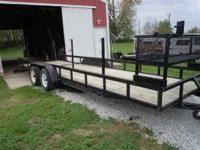 "22' long x 6' 2"" wide Landscaping Trailer with ramp"