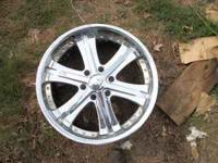 "I have for sale 3 22"" rims that have the 6 lug bolt"