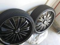 22 inches versante rim with tires on sale. 1000 dollar.