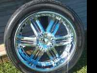 "I've got a set of 22"" U2 wheels and almost new kumho"
