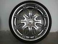 22 INCH WHEELS & TIRES CALL- INCUBUS NAMEBRAND WHEELS