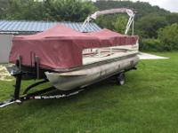Fish-n-Cruise Pontoon powered by a 90hp Honda 4 Stroke