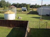2BR 900ft2 home. w/d hookups detached garage.  37 acres