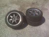Im selling the tires and rims I was going to put on my