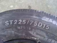 For sale is a set of used tires that were only used one