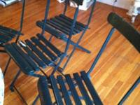These are reconditioned antique iron with wood slat