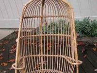 Rattan Cane Bamboo Hanging Chair, vintage, It comes