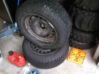 like new studded tires on stock steel mustang wheels