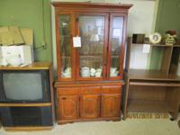 A china hutch for an excellent price. The measurements