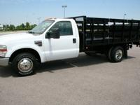 2008 F350 FLATBED TRUCK. 12ft. Royal Steel Flatbed Body