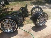 "!!MAKE A OFFER!! 22"" Inch Chorme Rim's With 4 Brand New"