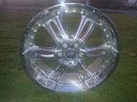 "Selling these 22"" GEAR Chrome Rims, barely used and in"