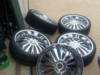 I am selling my 22' rims for $1200. They are fwd rims,