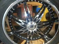 "22"" Inch set of Black Ice Nocturno rims with a 6 bolt"
