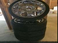 22in rims and tires. Essentially brand name brand-new