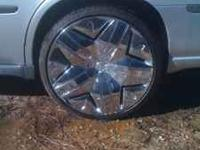 "450 obo This is a full set of ready to bolt on 22"" rims"