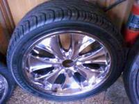 22 inch rims with good tires 6 Bolt askn $550 serious