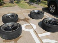 "I have a set of 4 rims and tires. The rims are 22"" and"
