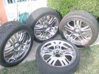 "4-22"" RIMS WITH TIRES 265/40/r22****2 TIRES ARE BRAND"