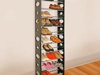 Space-saving shoe rack holds up to 30 pairs of men's
