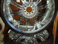 "I HAVE SOME 22""UNIVERSAL CHROME RIMS FOR SALE AS-IS. I"