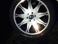 "Set of four 22"" wheels and tires. 6 lug, chevy"