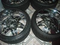 HELLO I HAVE A NICE CLEAN SET OF 22 INCH CHROME BZO