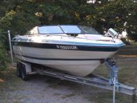 this is a nice 87 model 22 foot ski boat with a