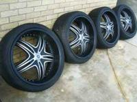 22inch dropstar rims and new tires 295/35r22 universal
