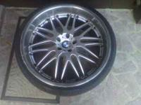 22INCH STOCK BMW ALLOY WHEELS, WHEELS ARE