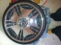 22x8.5 inch rims NO TIRES!!! Rims are used with some