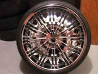 I HAVE A SET OF 22S WITH TIRES ASKING 1100 O/B CALL OR