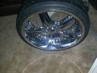 Up for sell I have some 22 inch rims.  They look good