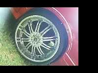 set of 22inch TIS rims and tires in GOOD condition..
