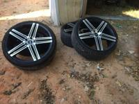 22 inch rims for 1000 Obo  One of the rims is cracked