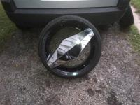 TIRES LIKE NEW AND SO ARE THE WHEELS,       22s,5lug