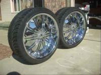 I have these 22x9.5 wheels with tires. Wheels and Tires