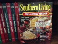 23 Annual Southern Living Cookbooks - 1979 to 2002 -
