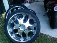"23 "" Rims Two brand new tires Other two tires 90% Mount"