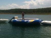 23 Foot Aquaglide Supertramp Water trampoline, with