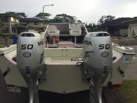 Glasspro 23, two Honda 50hp outboards. 5 pole positions