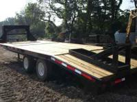 1995 gooseneck trailer, 23' overall, 18' flat and 5'