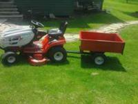 "23hp Huskee Supreme with 46"" cut. Transmission is"