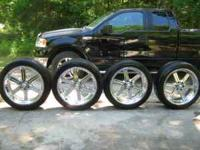 Luxury AKUZA chrome rims in great condition  Location: